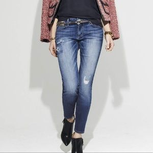 Paige Skyline Peg Jessie Tear & Repair Jeans